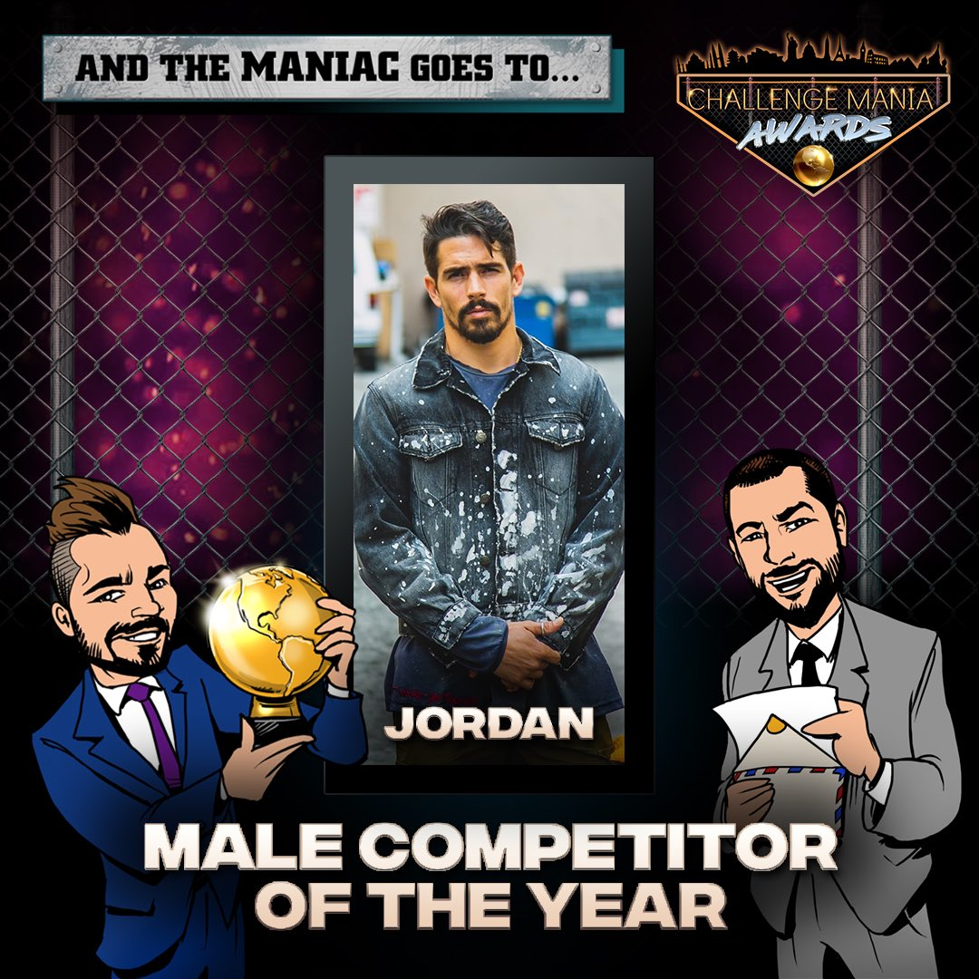🎊And the #ChallengeMania Award for MALE COMPETITOR OF THE YEAR goes to...  JORDAN!!!! (@jordan_wiseley)   🌕🌕🌕🌕🌕🌕🌕🌕🌕  #TheChallenge33 #TheChallenge34  #ChallengeManiaAwards