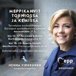 Image for the Tweet beginning: Maanantaina olen Meri-Lapissa. Tervetuloa tapaamaan