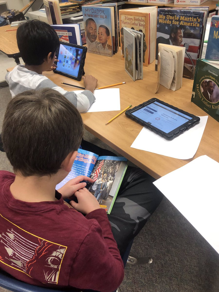 """""""Why is Dr. Martin Luther King Jr. still important today?"""" 3rd, 4th and 5th graders begin to research (citing their sources) MLK as they consider this question. Research notes are posted in their SeeSaw accounts. <a target='_blank' href='http://search.twitter.com/search?q=APSIsAwesome'><a target='_blank' href='https://twitter.com/hashtag/APSIsAwesome?src=hash'>#APSIsAwesome</a></a> <a target='_blank' href='http://twitter.com/OakridgeConnect'>@OakridgeConnect</a> <a target='_blank' href='http://twitter.com/APS_OEE'>@APS_OEE</a> <a target='_blank' href='https://t.co/bjRJUVM9UK'>https://t.co/bjRJUVM9UK</a>"""