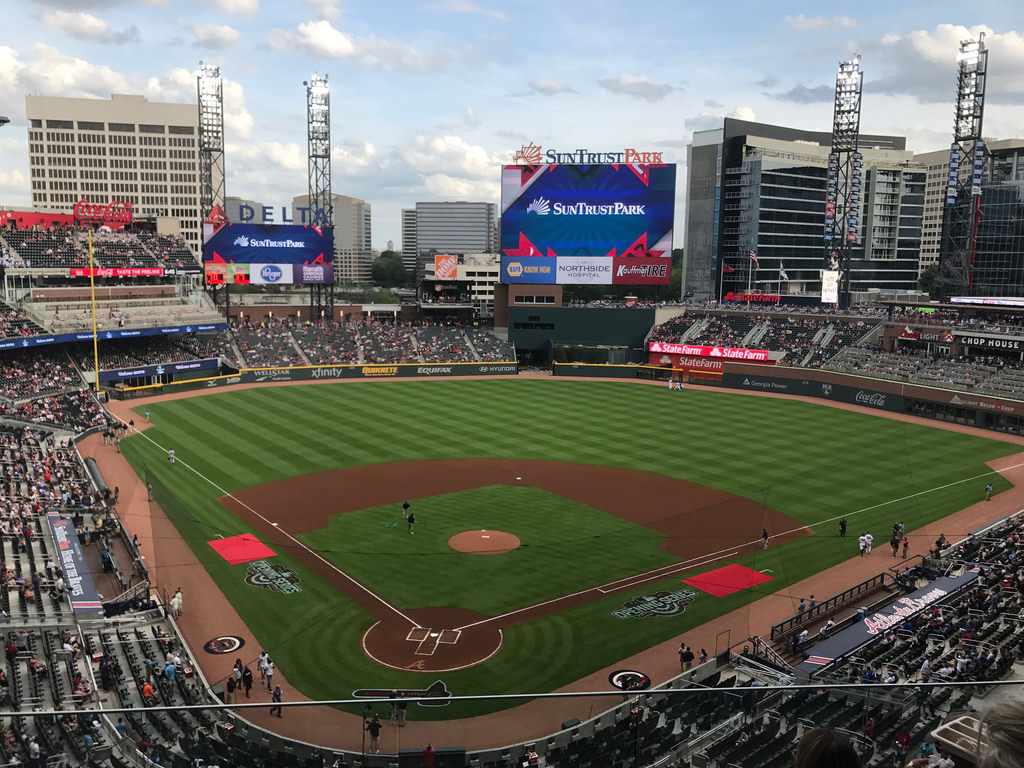 Good Wednesday Morning everyone! It's a beautiful day! Let's make it great! 😁  Also, we're another day closer to being back to this beautiful place!  #ChopOn  #BravesCountry #TruistPark