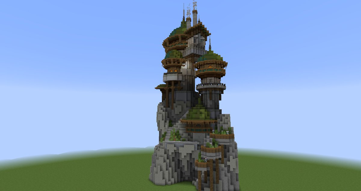 Pearlescentboo On Twitter Starting Off Minecraft Fantasy Structure Week For Day 2 9 Of Abuildaday Is A Wizard Tower Of Sorts Anyway There S Some Details I Still Need To Add And