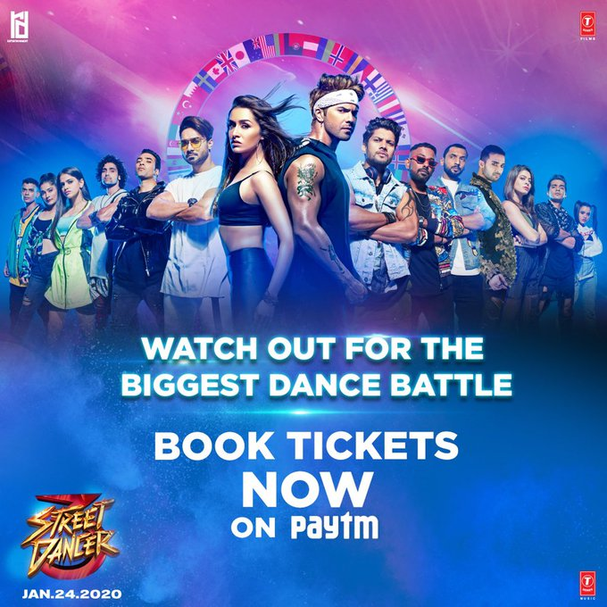 The ultimate dance battle is just a ticket away!🎟🍿🎬  Book your #StreetDancer3D tickets on @Paytm : https://t