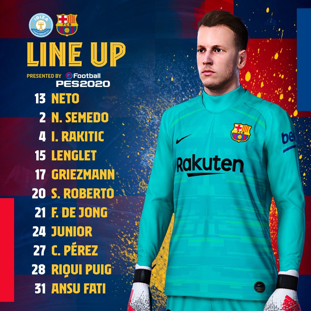 Fc Barcelona Line Up  #fcblive <br>http://pic.twitter.com/RfgV7TSECl