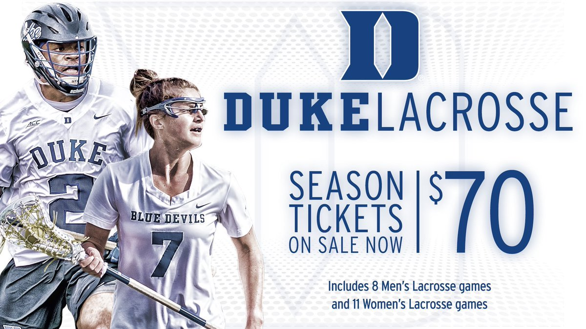 ‼️SEASON TICKETS ON SALE‼️  For only $70, you can catch all the women's & men's 🔵😈🥍 action at Koskinen Stadium this spring 🙌  Visit  for more information 👏🎟   #GoDuke | #DukeLaxLove