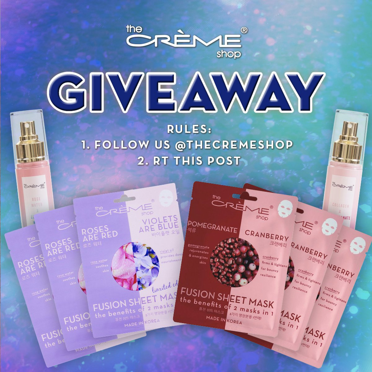 experience the power of our fusions masks with this #giveaway   http:// thecremeshop.com       to win: follow us & RT this post bonus if you tag a friend   winner will be dm'd next wednesday! <br>http://pic.twitter.com/PimZcitsEg