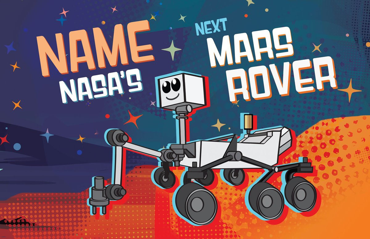 Have you voted yet? Tomorrow is the last day to cast your vote for your favorite of nine potential #Mars2020 Rover names! 💫 Help @NASA choose a rover name by voting here >> go.nasa.gov/37gp9Ot