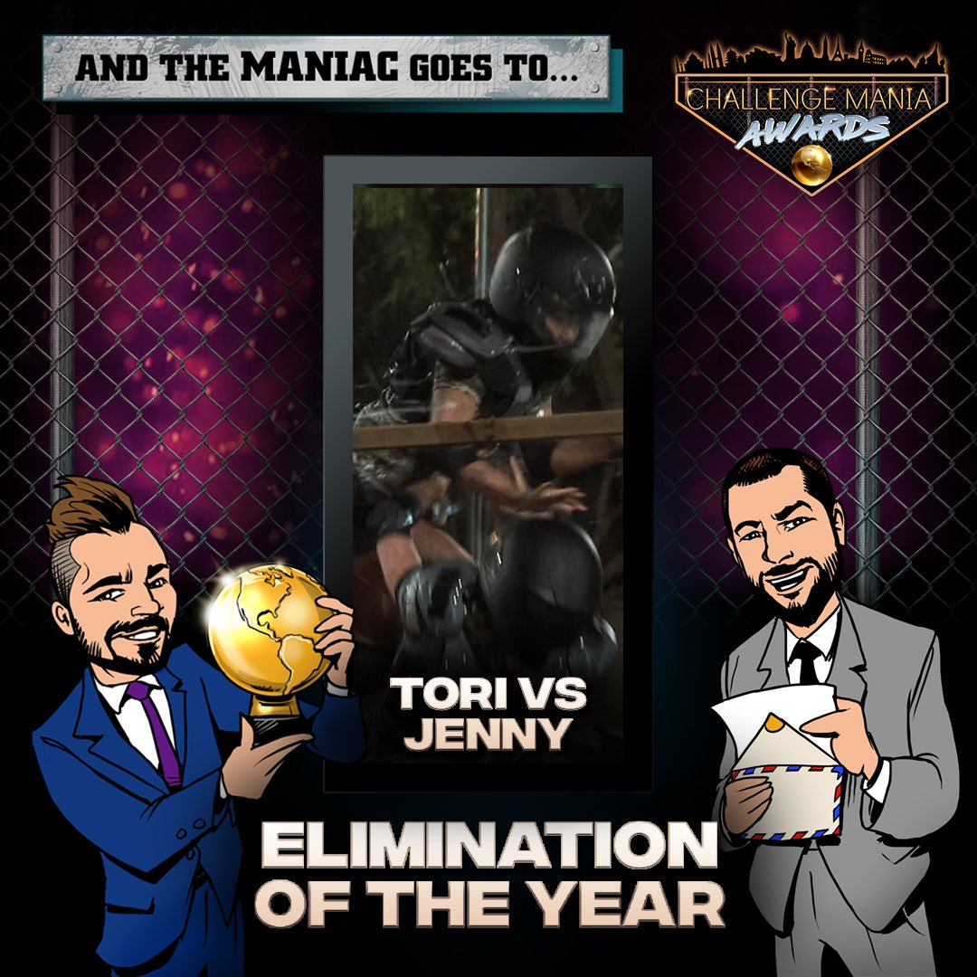 🎊And the #ChallengeMania Award for ELIMINATION OF THE YEAR goes to...  TORI v JENNY!!! (@tori_deal)  🌕🌕🌕🌕🌕🌕🌕🌕🌕  #TheChallenge33 #TheChallenge34  #ChallengeManiaAwards