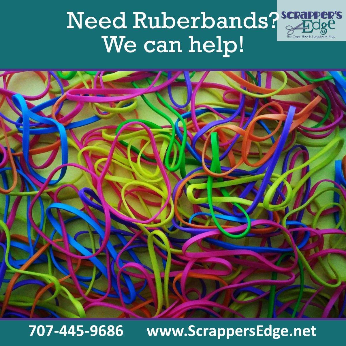 Yes, we even have rubberbands in colors! . Shop in store or online:  . #PaperRelated #ShopLocal #happy #followme #repost #life #amazing #bestoftheday #ScrappersEdge #EurekaCA #BestOfTheNorthcoast #BestOfHumboldt
