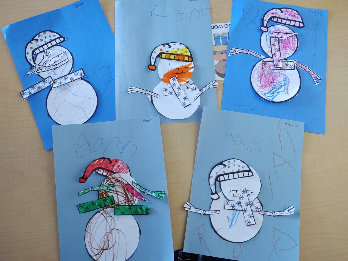 When you are learning about winter, we must make snowmen! Aren't these the cutest! 😁 #hesteach