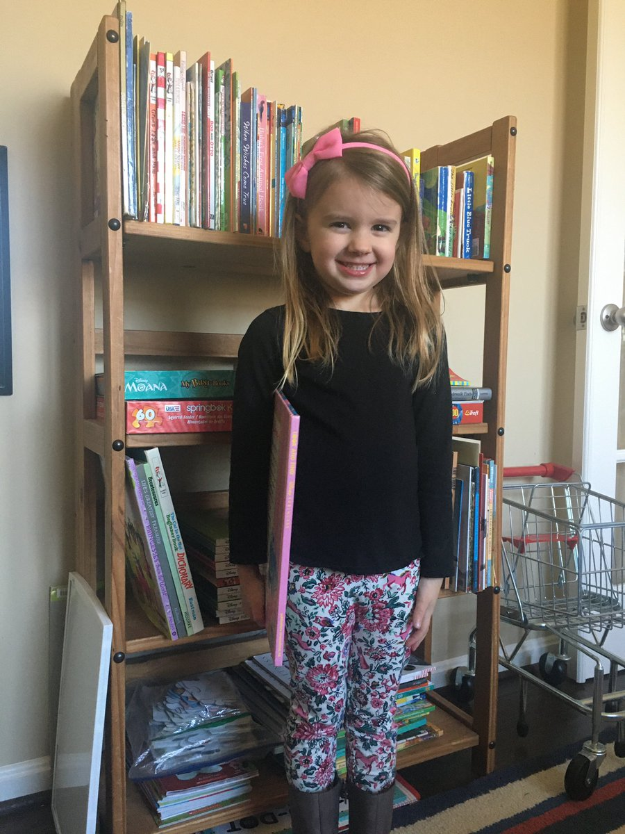 It's library #shelfie day! And this little preschooler loves her library!