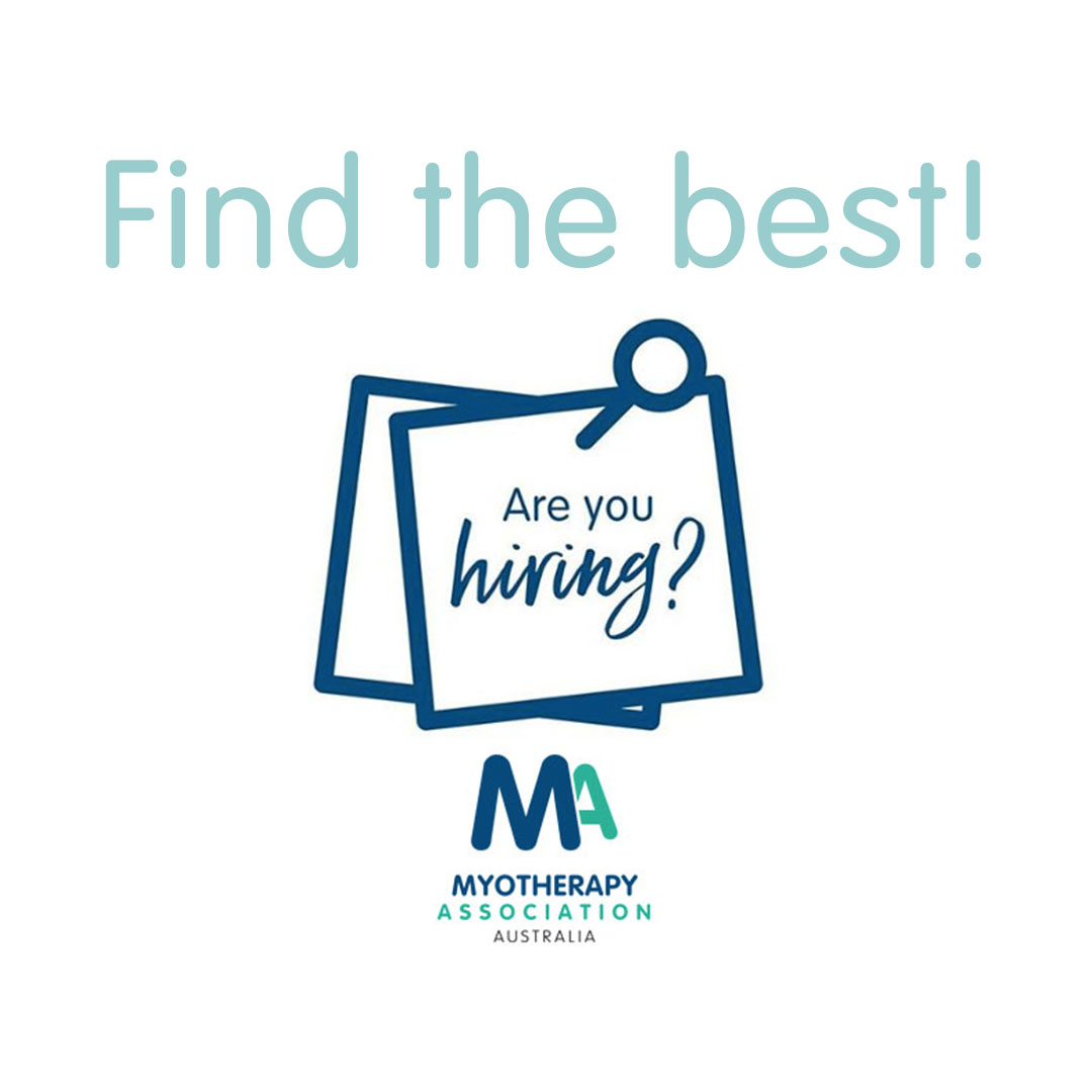 Are you looking for a fantastic #Myotherapist to join your practice? As an MA member you can advertise for free in our bi-monthly newsletter and on the http://ow.ly/1rAQ50xJkF6 website.  Hire the best: http://ow.ly/ATql50xJkF5pic.twitter.com/RTOMBsw91r