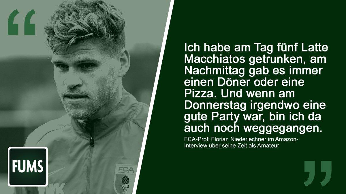 Wer Florian #Niederlechner nicht fühlt, hat die Kreisliga nie geliebt. #FCA ___ Eine Döner-Pizza bitte: @fums_magazin