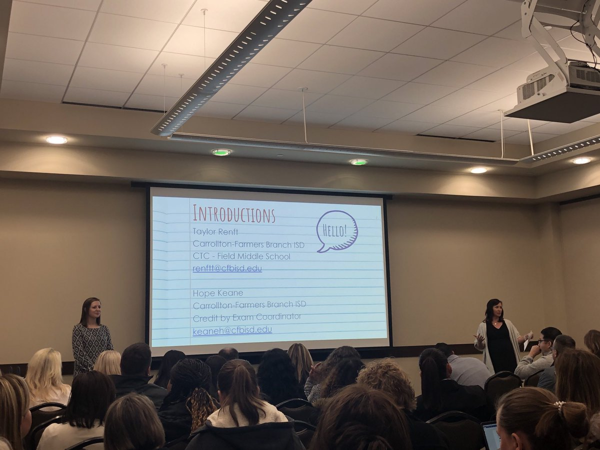 Hope and Taylor repping @CFBISD at Assessment Con 2020.