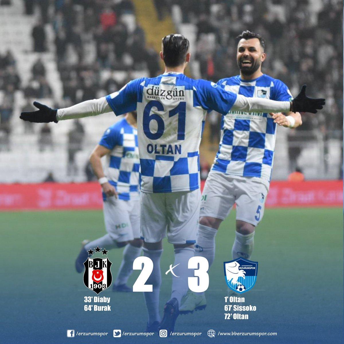 ✔MAÇ SONUCUBeşiktaş A.Ş. 2 - BB Erzurumspor 3#Erzurumspor