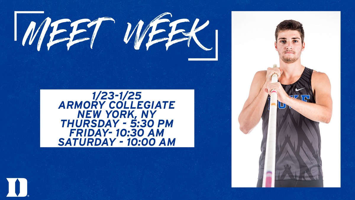 Who's ready for another exciting weekend of 🔵😈🏃♂️🏃♀️?   #GoDuke