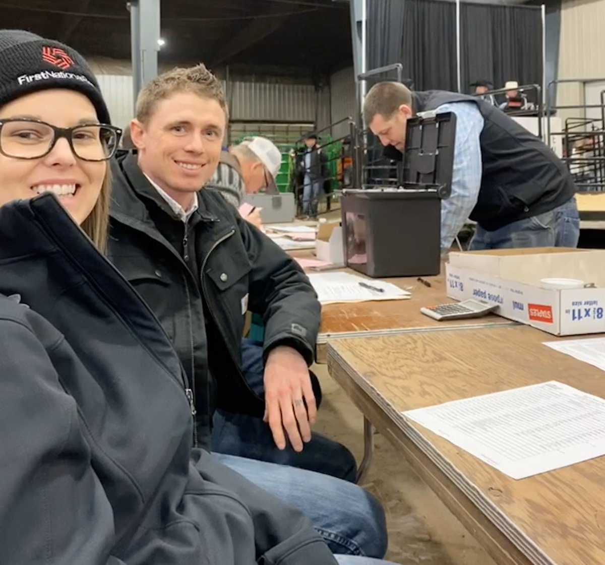 Our Ag team is at the Sioux Falls Livestock show today. The team kept up with tradition by clerking the Angus sale, something we've done since the beginning of the show 67 years ago!