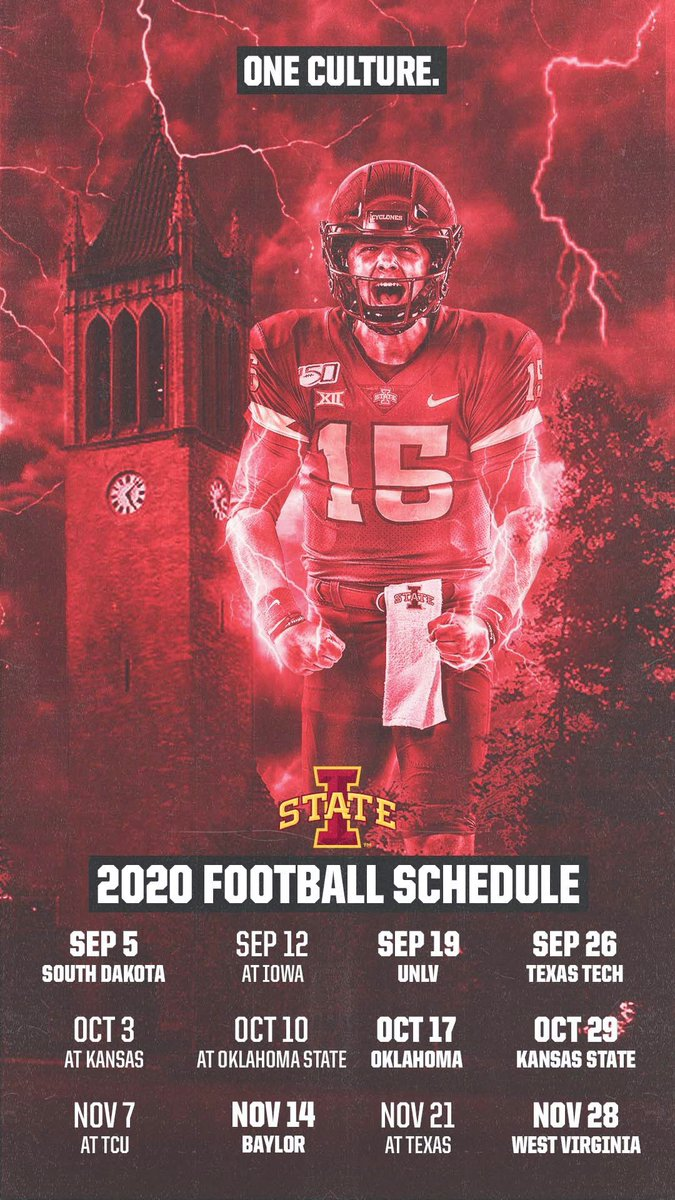 Cyclone Football On Twitter Wallpaperwednesday 2020 Cyclone Football Schedule