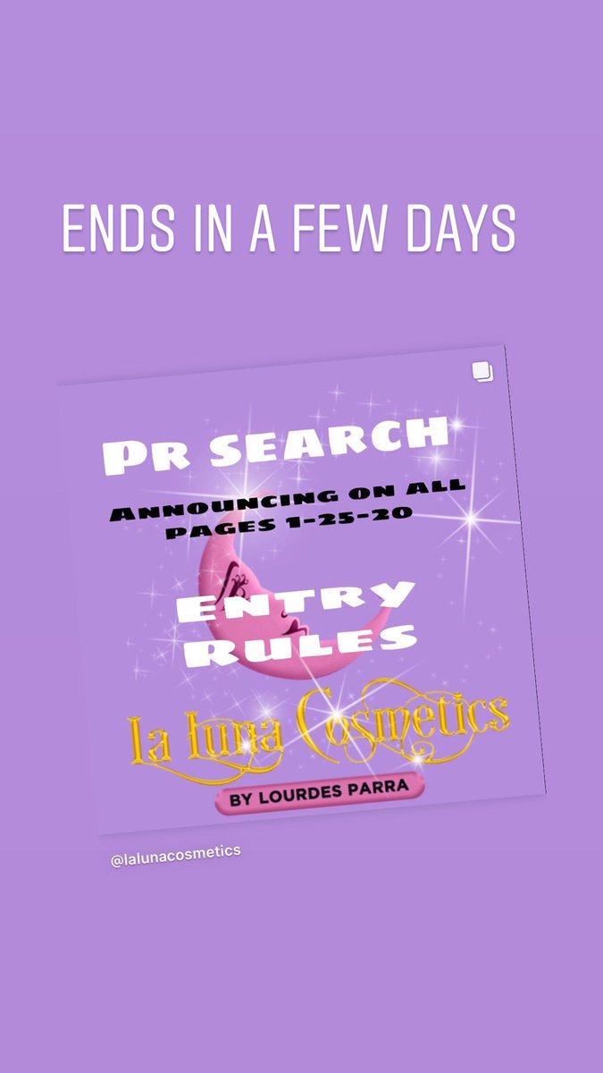 Only a few days left to enter our PR search! Check out our IG to find out how to enter. http://Instagram.com/lalunacosmetics #prsearch #makeup #beauty #love #art #smallbusiness #luna #moon #indie #indiemakeup #indiebrand #indiebeauty #mua #mue #Influencer #bloggerpic.twitter.com/CvXIcShbOs