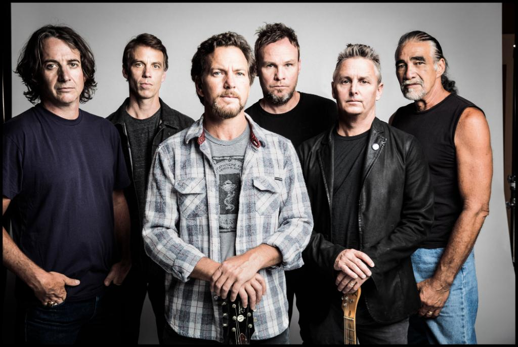 """""""We've opened some new doors creatively and that's exciting,"""" says @PearlJam's Jeff Ament, introducing their synth-driven """"Dance Of The Clairvoyants."""" It's the first track from their 11th album 'Gigaton,' which arrives 3/27. Listen now: pdora.co/3aBAZ7F"""