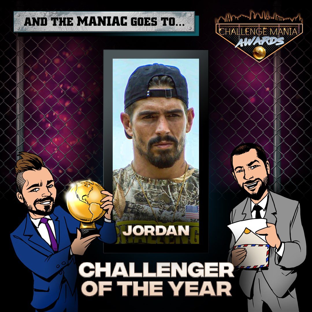 🎊And the #ChallengeMania Award for CHALLENGER OF THE YEAR aka WHO WON THE YEAR goes to...  JORDAN!!! (@jordan_wiseley)  🌕🌕🌕🌕🌕🌕🌕🌕🌕  #TheChallenge33 #TheChallenge34  #ChallengeManiaAwards