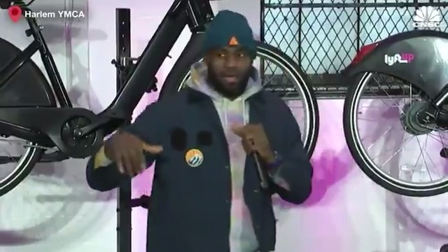 Image for the Tweet beginning: LeBron James and Lyft are