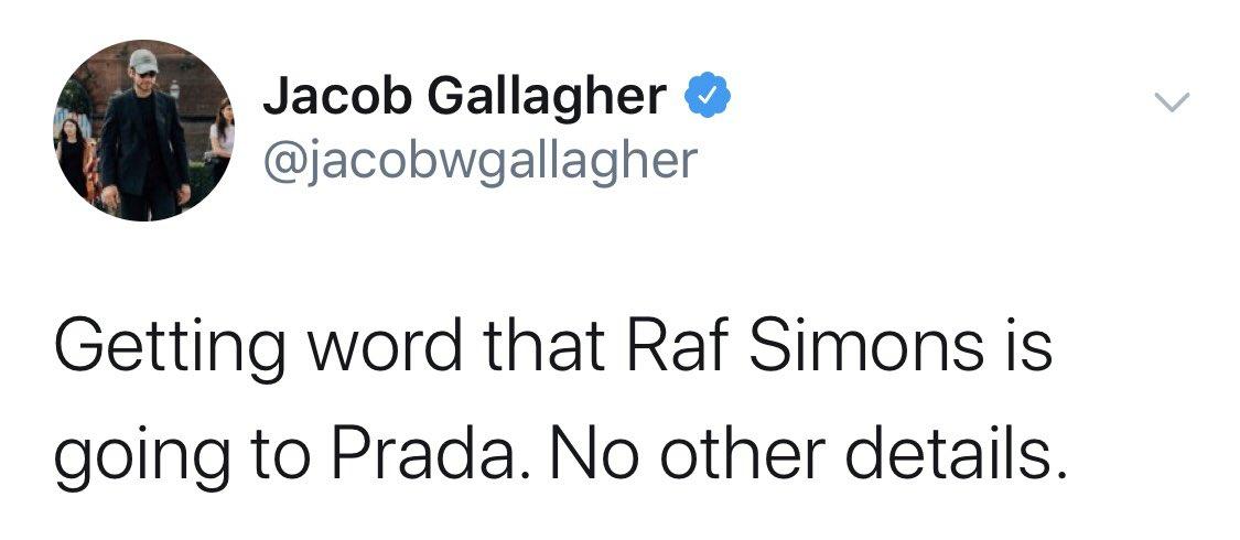 Ходят слухи: Раф Симонс будет работать в Prada (фото 1)