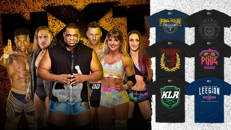 Check out all of the @WWENXT tees available now at #WWEShop! #WWE #NXT