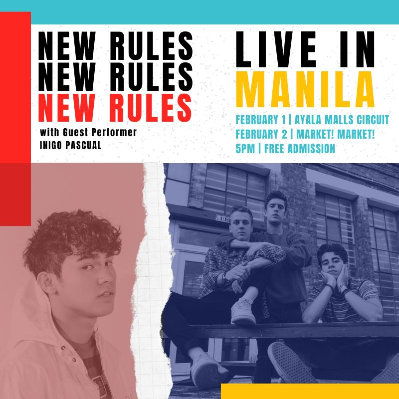 On the other side of the world, we'll be playing some mall shows in the Philippines  #NewRulesLiveInMNL + our 'bad guy' cover with Inigo is up on @YouTube now!  https:// youtu.be/0hjohL3WbZI     <br>http://pic.twitter.com/F4gsHWdxr6