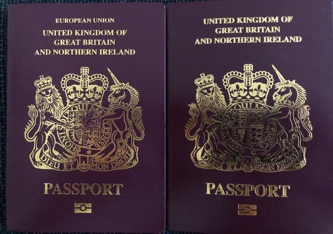 The passport on the left allows you the freedom to work, travel, study or live in 27 European countries. The passport on the right doesn't. It's a downgrade.