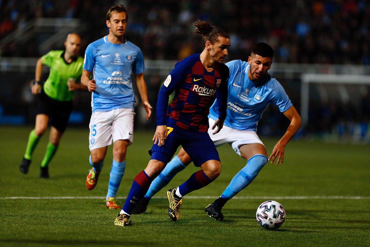 جريزمان ينقذ برشلونة من التعثر أمام إيبيزا في كأس الملك (2-1) 🔥🔥