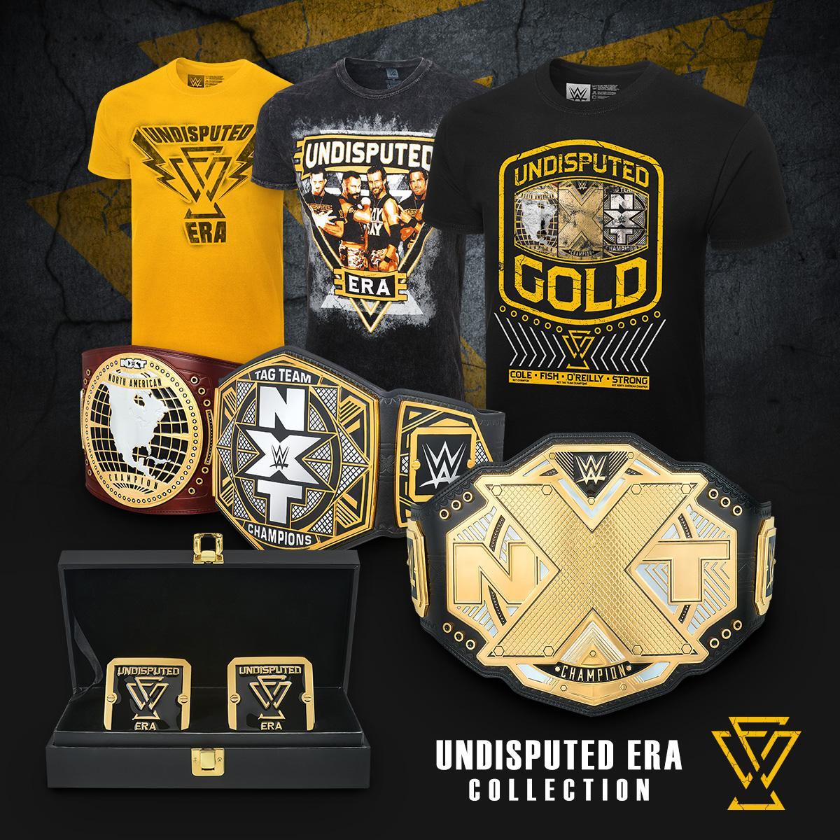 Get all your #UndisputedEra gear at #WWEShop. #WWE #NXT @WWENXT @AdamColePro @KORcombat @theBobbyFish @roderickstrong