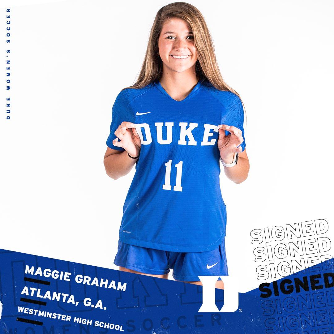 Meet another future 🔵😈 Maggie Graham‼️  🗞 |   #GoDuke 🔵😈⚽️