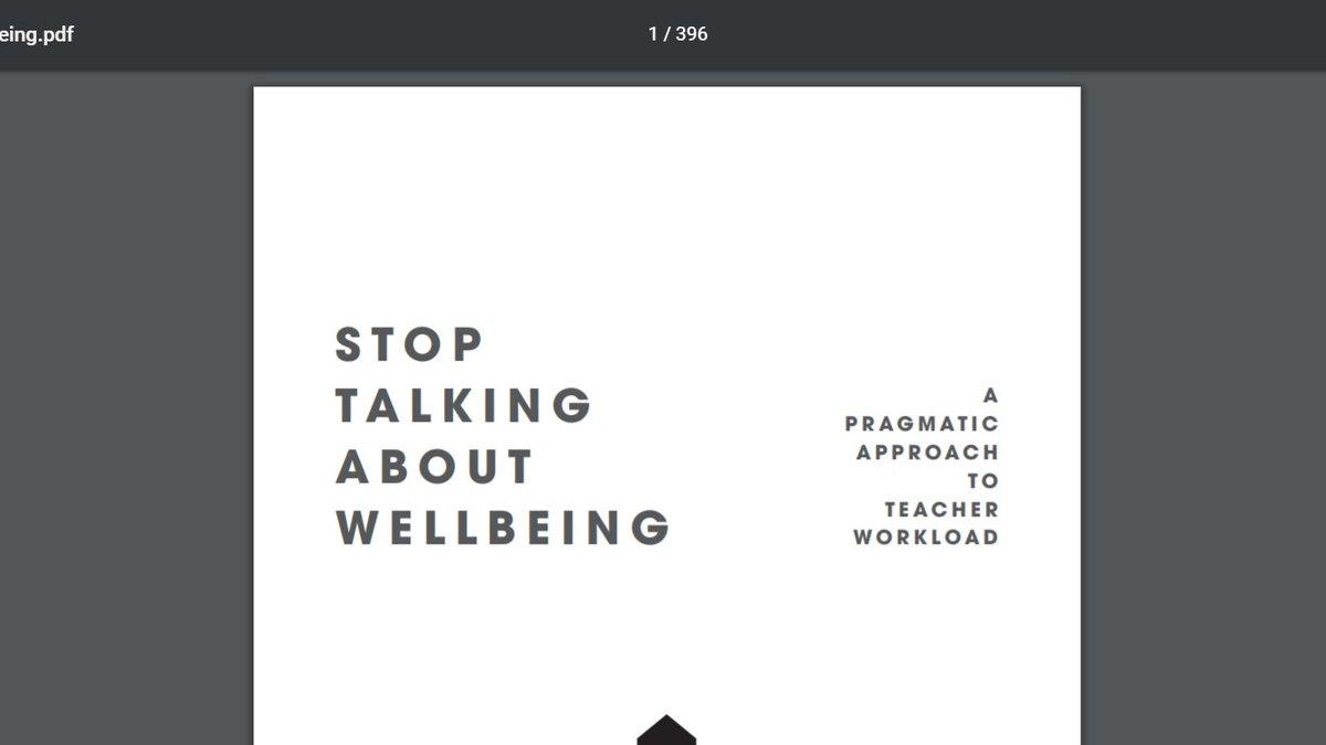 Well, well well! #StopTalkingAboutWellbeing