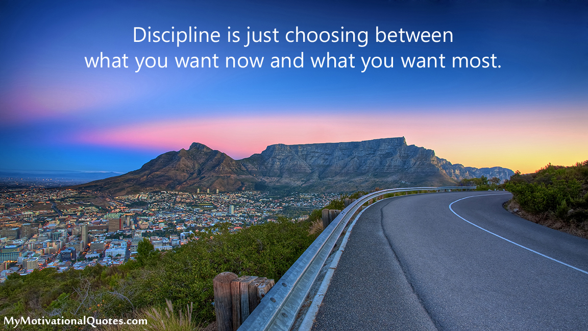 Discipline is just choosing between what you want now and what you want most.  #MotivationalQuotes <br>http://pic.twitter.com/yrWyi9RjMj