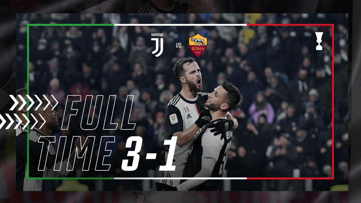 Full Time Juventus 3 1 Roma Italy Coppa Italia January 22 2020 Football365
