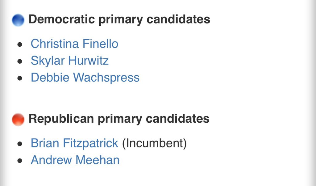 @immelza @HouseForeign @DitchFitz @IndivisibleBUX @PA_Indivisible @PADems @PADemsChair @Sisterwriter @Qwarktastic2 @BonniBK @Sue_Zee_Que4 Hey Melz, who do you like among these 3? They're not big accounts on Twitter, none of them, even their campaign accounts. I have not picked any to run a profile/bio on. Which one do you think would get the votes against Fitz, bearing in mind he himself has a primary challenger...