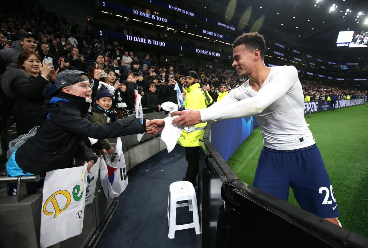 Class, @dele_official! 💙 #THFC ⚪️ #COYS