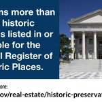 WhatWeDoWedsnesday - GSA's historic preservation program provides national leadership for compliance with the National Historic Preservation Act and other historic building stewardship directives. Learn more: https://t.co/mxUVsXMXL1 #PBS