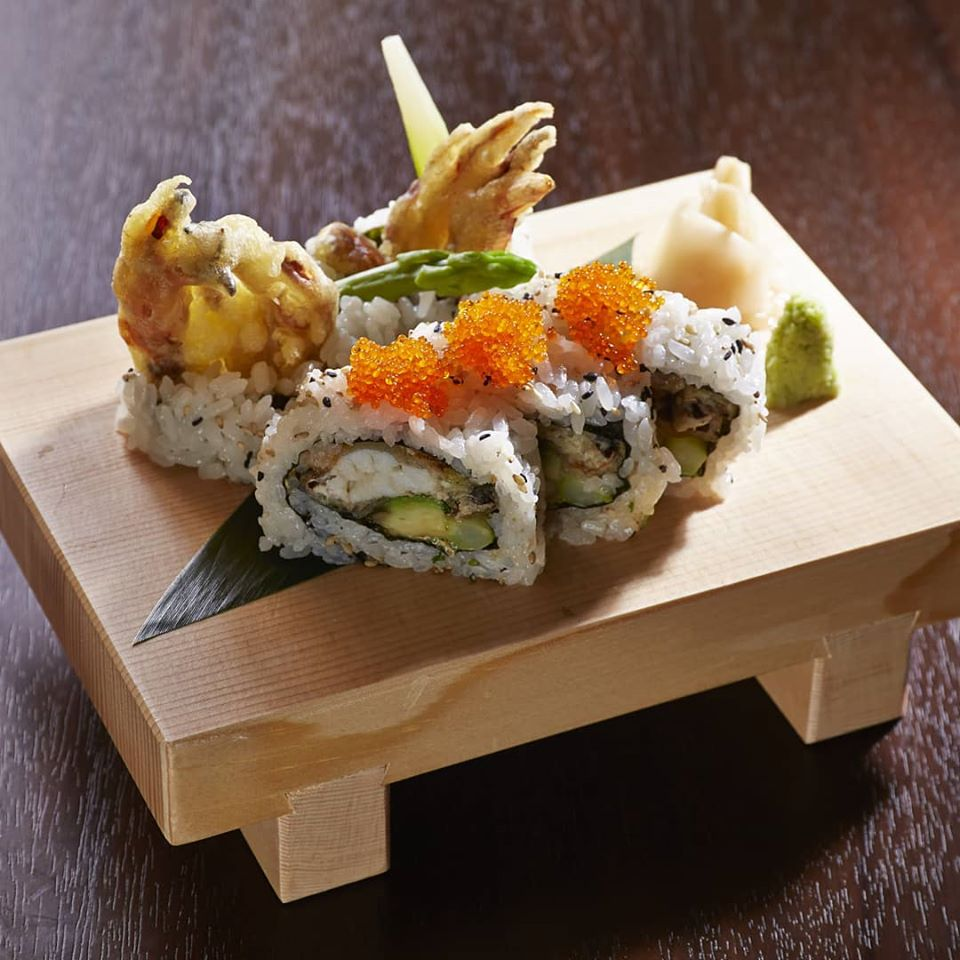 Softshell crab tempura is just one of the many sushi roll options available at @MorimotoKyoto. If you enjoy softshell crab, you should not miss this!
