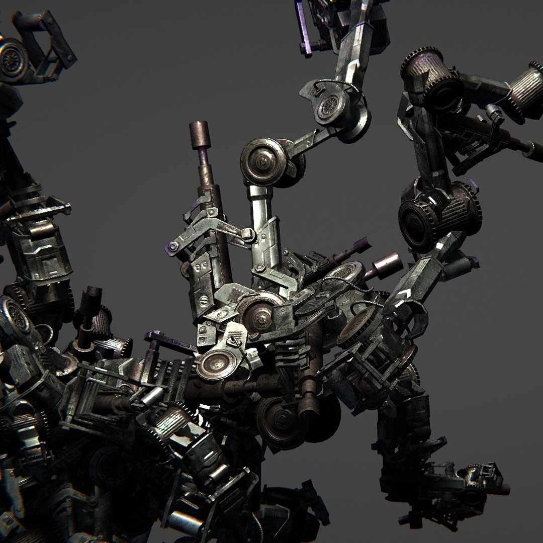 More procedural generation / mecha style 🤖🦿🦾  #unity #unitygame #procedural #proceduralgeneration #indiegame #indiedev #gameart #generativeart #generative #mecha #simulation #mechanical #robot #robots #weapon #steampunk #coding #unitycoding
