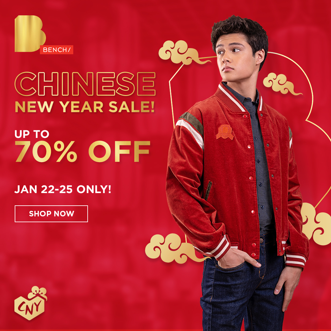 We're throwing a special shopping party for all of you!! 🎉 Join in our Chinese New Year Sale and get up to 70% off on your fave BENCH/ essentials when you purchase today until Jan 25! - Head on over to our BENCH/ Flagship Store in Lazada (soo.nr/T8qv) to shop! 🛒