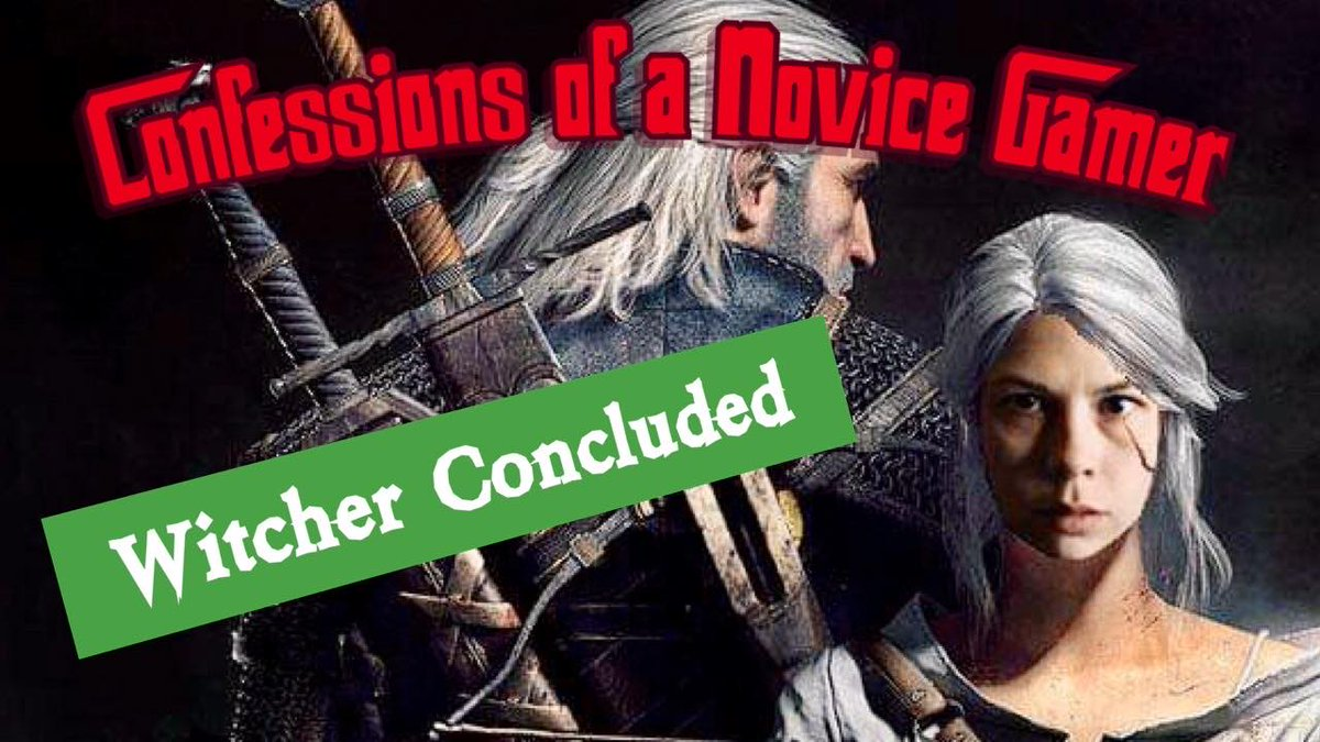 We finished the game! I give my final thoughts on my Witcher experience here. Also I made that thumbnail with Microsoft paint so I am expecting much praise for my oldschool skills youtu.be/w1IZtJgejbE