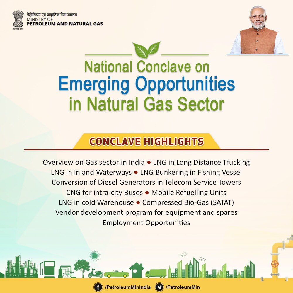 """Ministry of Petroleum and Natural Gas on Twitter: """"#NaturalGasConclave2020  will witness participation from distinguished policy makers, State  Governments, senior officials from MoPNG, oil and gas experts from National  Oil Companies and delegates"""