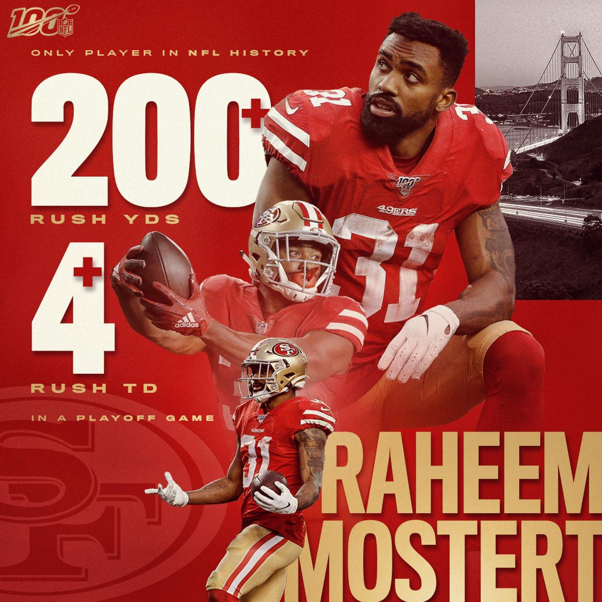 Six teams cut Raheem Mostert. He ran his seventh team to the @SuperBowl and made history doing it. @RMos_8Ball @49ers | #GoNiners
