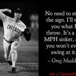 #GregMaddux #cubs #chicagocubs #cubsessed #iamCubsessed @Cubs