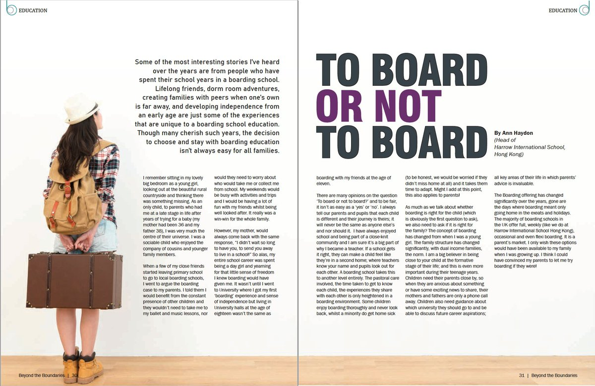 Great article by @HeadHarrowHK in Beyond the Boundaries magazine January 2020 issue. Answering the age old question, 'To Board or not to Board'. This is different to other articles answering the same question as it's personal and thought provoking. A must read!