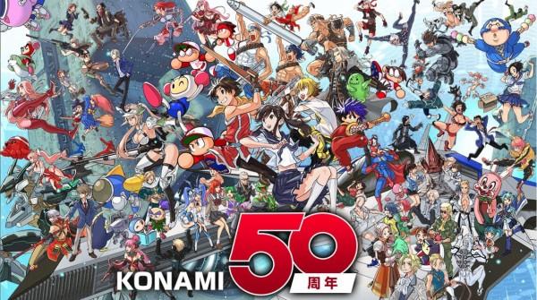 コナミの50周年記念イラストが話題に―メタルギア、ラブプラス、悪魔城、ゴエモンなど歴代IP大集合!