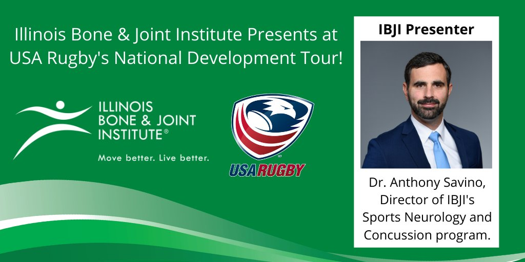 CHICAGO | @IBJI is proud to sponsor the National Development Tour! IBJI's Dr. Anthony Savino will present on sports neurology and concussions. #IBJI REGISTER » usarug.by/NDT