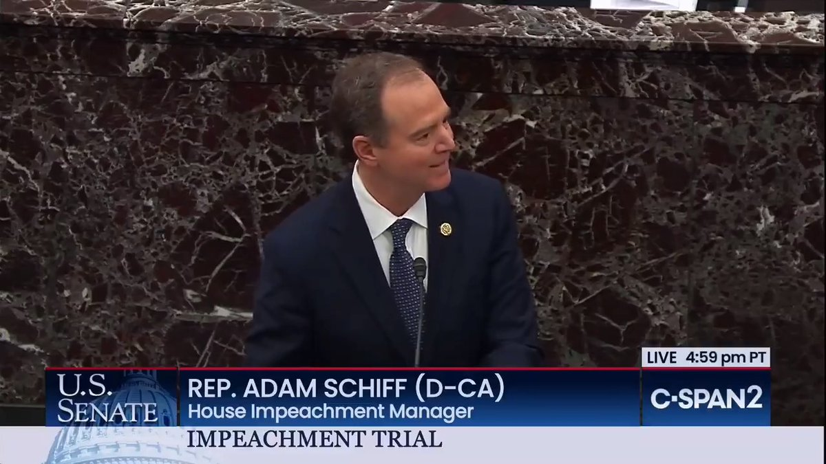 """.@RepAdamSchiff on Ambassador Taylor's August 29 cable:""""Would you like me to read that to you? I would like to read it to you right now, except I don't have it. Because the State Dept wouldn't provide it. But if you'd like me to read it to you, we can do something about that."""""""