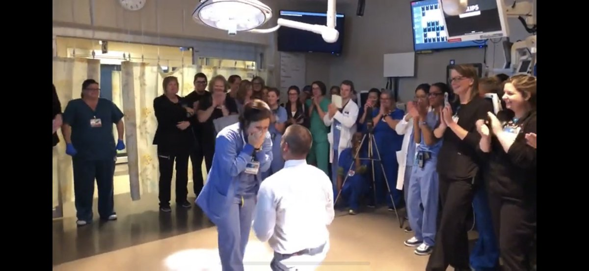 @lubdubscrubs We had a proposal in our resuscitation room.